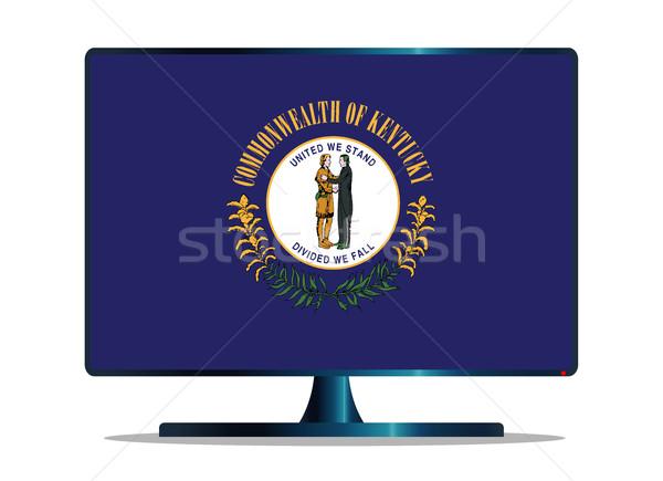 Kentucky Flag TV Stock photo © Bigalbaloo