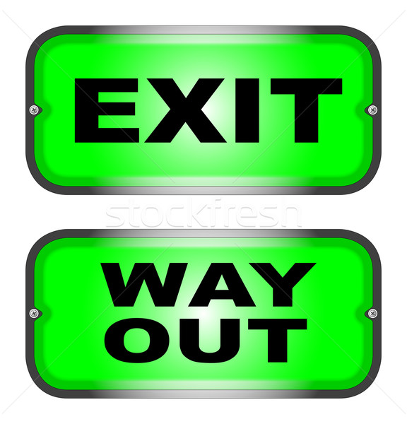 EXIT and WAY OUT Stock photo © Bigalbaloo