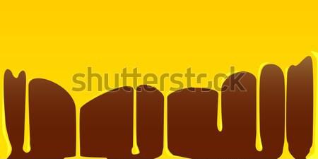 Molten Chocolate Background Stock photo © Bigalbaloo
