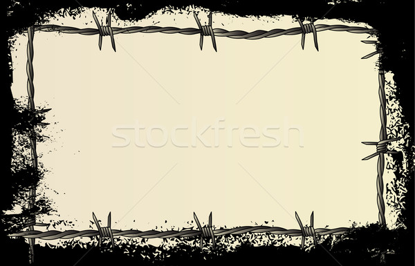 Barbed Wire Grunge Stock photo © Bigalbaloo