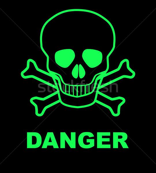 Сток-фото: опасность · череп · знак · опасности · черный · медицина · смерти