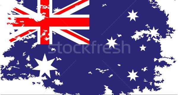 Australian Flag Grunge Stock photo © Bigalbaloo