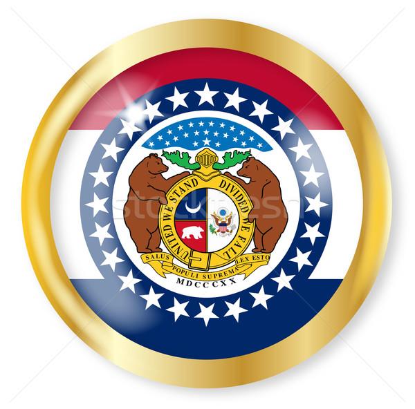 Missouri pavillon bouton or métal circulaire Photo stock © Bigalbaloo