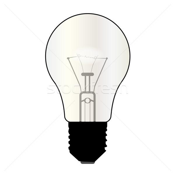 Isolated Light Bulb Stock photo © Bigalbaloo