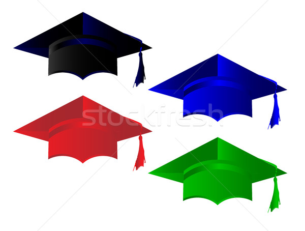 Degree Pass Caps Stock photo © Bigalbaloo