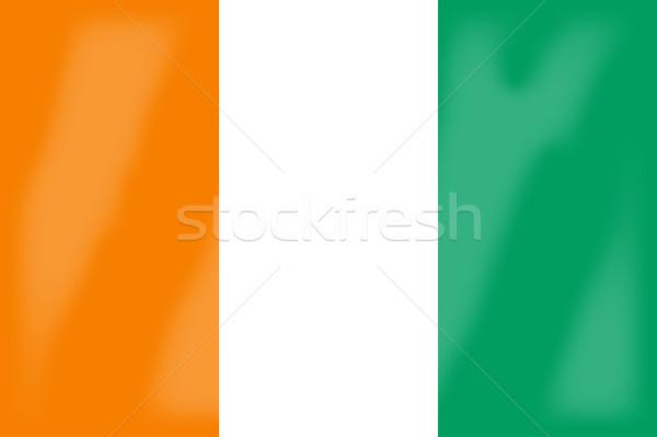 Берег Слоновой Кости флаг африканских стране Африка Сток-фото © Bigalbaloo