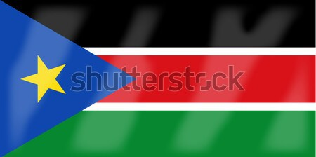 South Sudan Flag Stock photo © Bigalbaloo