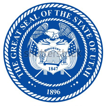 Selar presidente Estados Unidos américa fundo azul Foto stock © Bigalbaloo