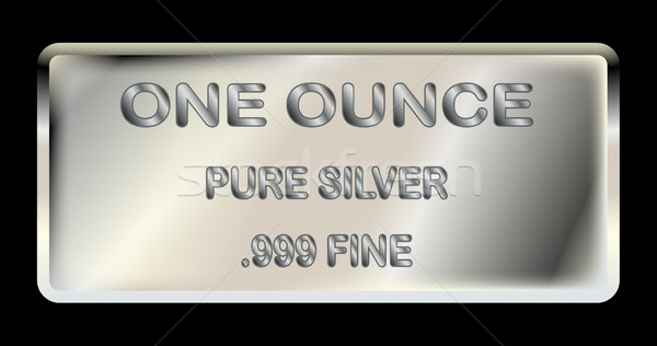 One Ounce Silver Ingot Stock photo © Bigalbaloo