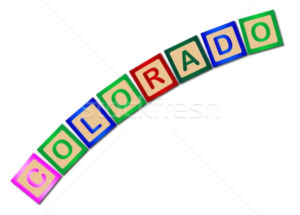 Colorado Wooden Block Letters Stock photo © Bigalbaloo