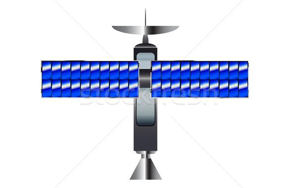 Satellite tipico ali bianco spazio Foto d'archivio © Bigalbaloo