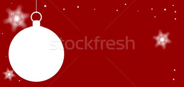 Karácsony copy space piros csillagok tél kártya Stock fotó © Bigalbaloo