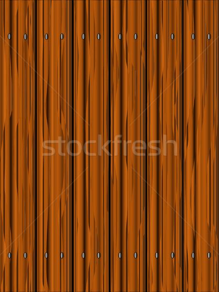 Light Brown Fence Fence Stock photo © Bigalbaloo