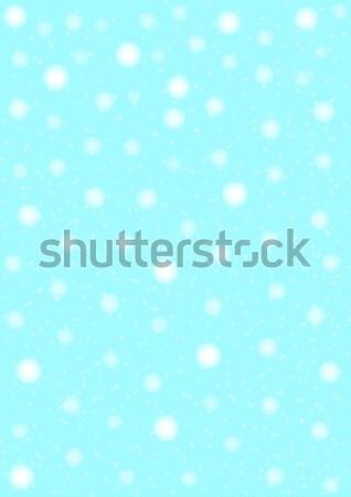Háttér zuhan tél kék karácsony hideg Stock fotó © Bigalbaloo