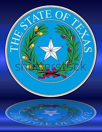 Texas sello americano aislado blanco azul Foto stock © Bigalbaloo