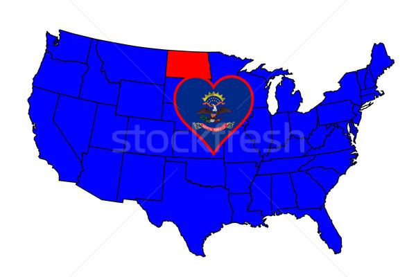 Kuzey Dakota ikon ayarlamak harita Amerika Birleşik Devletleri Stok fotoğraf © Bigalbaloo