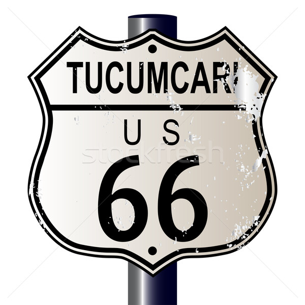 Stock photo: Tucumcari Route 66 Sign