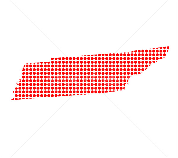 Red Dot Map of Tennessee Stock photo © Bigalbaloo