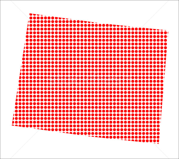 Red Dot Map of Wyoming Stock photo © Bigalbaloo