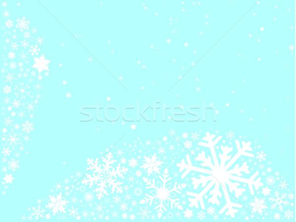 Рождества снежинка массив голубой белый Сток-фото © Bigalbaloo