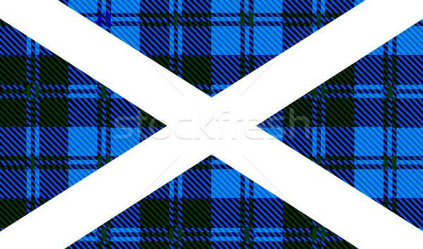 Scottish Tartan Flag Stock photo © Bigalbaloo