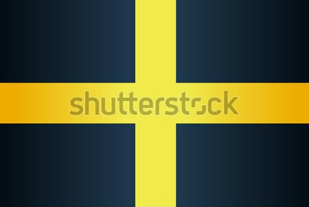 Flag of Saint David Of Wales Stock photo © Bigalbaloo