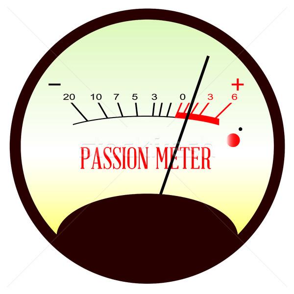 Red Hot Passion Meter Stock photo © Bigalbaloo