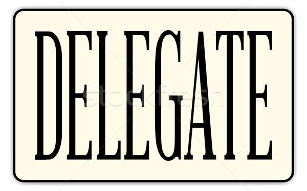 Badge tekst witte werk kunst teken Stockfoto © Bigalbaloo