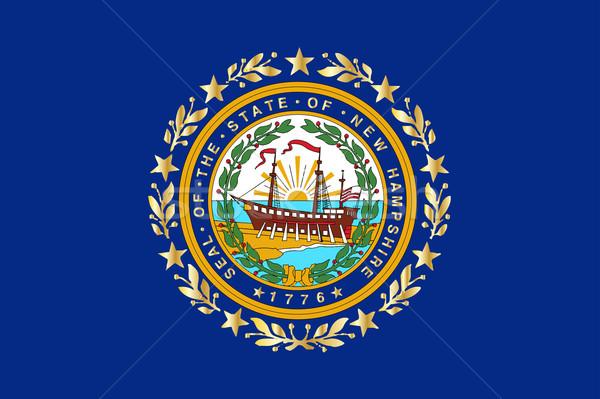 New Hampshire bayrak çizim mühürlemek ABD Stok fotoğraf © Bigalbaloo