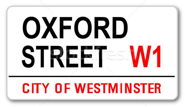 Oxford sokak ad imzalamak batı bir Stok fotoğraf © Bigalbaloo
