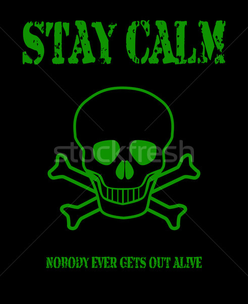 Stay Calm Stock photo © Bigalbaloo