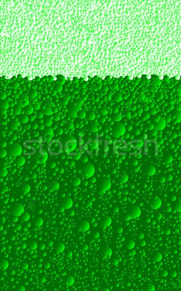 Dia cerveja bubbles verde efervescente Foto stock © Bigalbaloo
