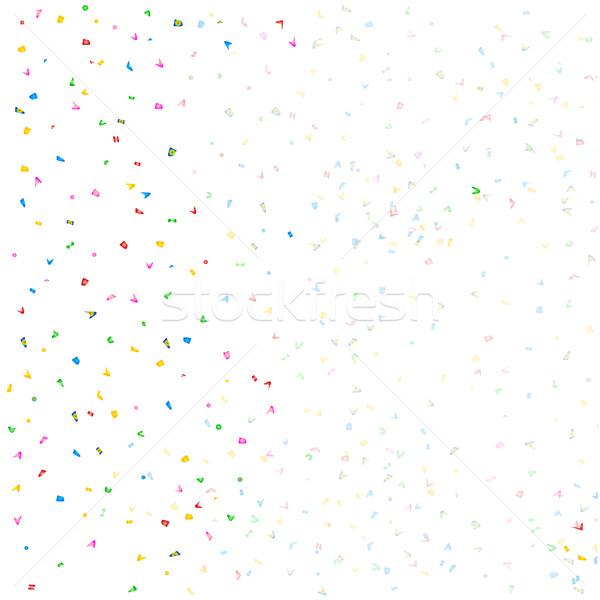 Confetti bianco party compleanno disegno grafica Foto d'archivio © Bigalbaloo