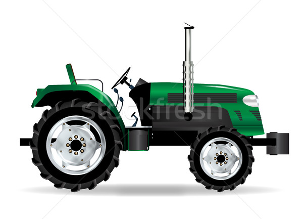Green Isolated Tractor Stock photo © Bigalbaloo