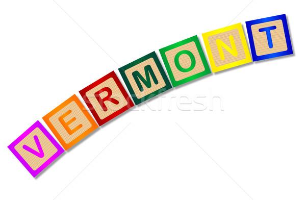 Vermont cartas coleção ortografia branco Foto stock © Bigalbaloo