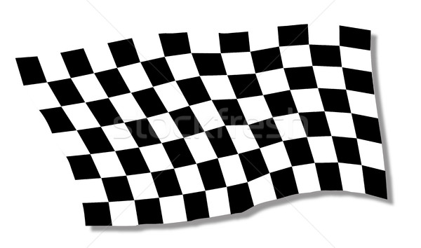 Chequered Flag Fluttering Stock photo © Bigalbaloo