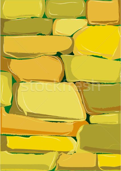 Grès mur campagne domaine pierre Photo stock © Bigalbaloo