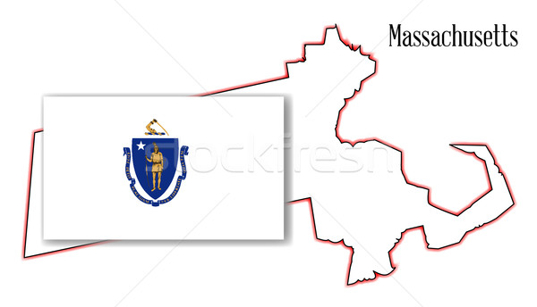 Massachusetts mapa branco gráfico Estados Unidos Foto stock © Bigalbaloo