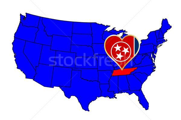 Tennessee icône carte États-Unis Photo stock © Bigalbaloo