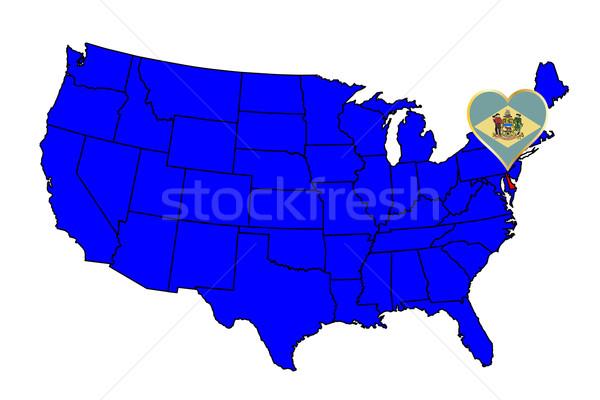 Delaware icono establecer mapa Estados Unidos Foto stock © Bigalbaloo