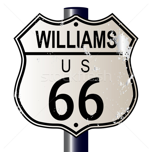 Williams Route 66 Sign Stock photo © Bigalbaloo