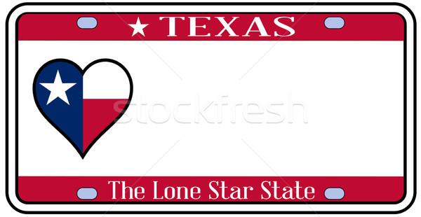 Texas placa cores bandeira ícones branco Foto stock © Bigalbaloo