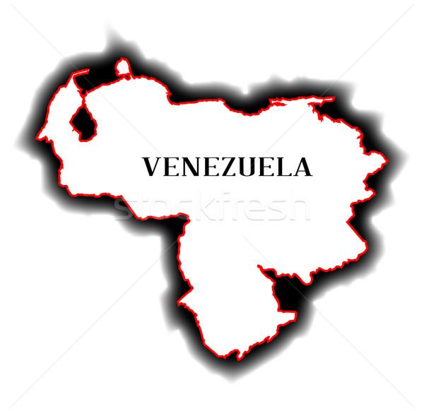 Venezuela skicc térkép dél-amerikai vidék grafikus Stock fotó © Bigalbaloo