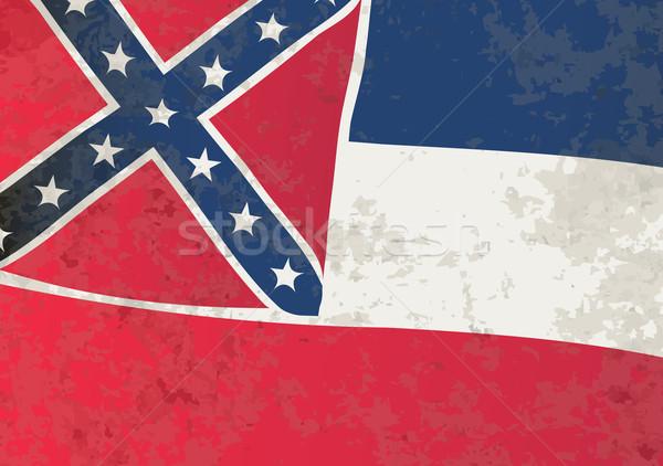 Mississipi bayrak grunge ABD etki Yıldız Stok fotoğraf © Bigalbaloo