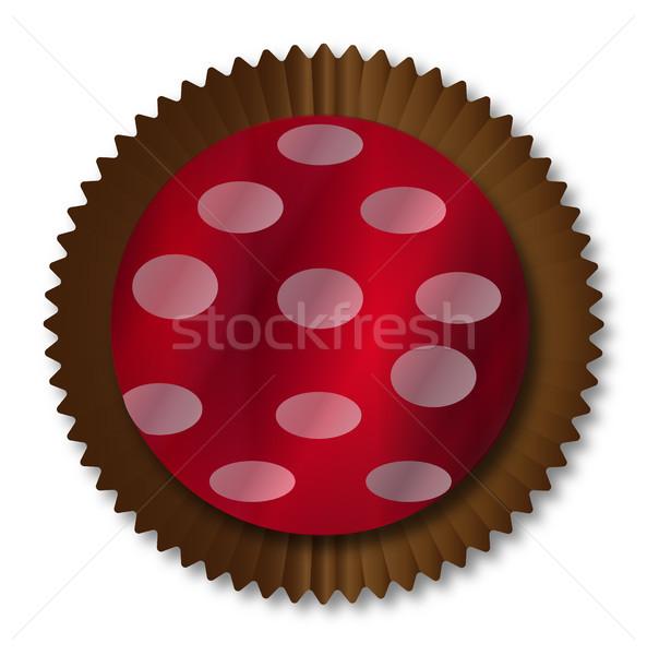 Csokoládé doboz tipikus papír Stock fotó © Bigalbaloo