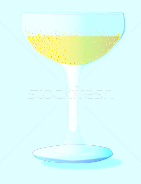 A Glass of Bubbly Background Stock photo © Bigalbaloo