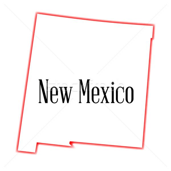 New Mexico schets kaart tekening grafische Mexico Stockfoto © Bigalbaloo