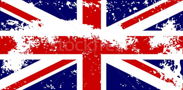 Brit zászló zászló grunge brit nehéz hatás Stock fotó © Bigalbaloo
