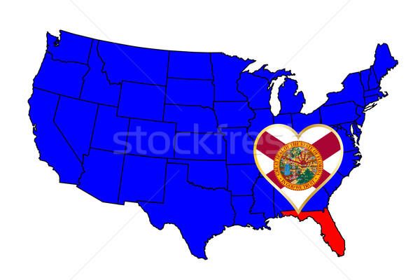 State of Florida Stock photo © Bigalbaloo