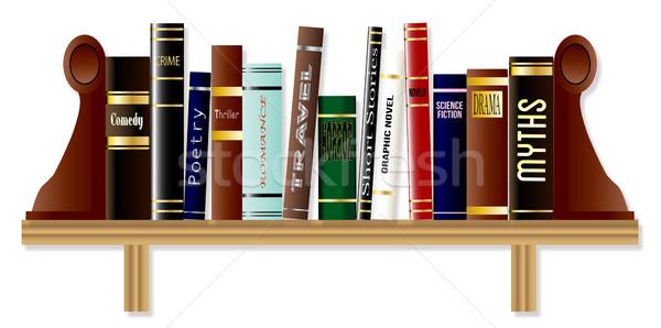 Boekenplank collectie boeken boekenplank verschillend boek Stockfoto © Bigalbaloo
